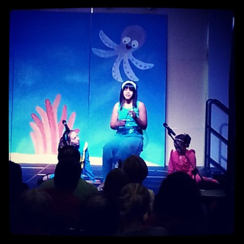 Watching @alyssaswag star in The Little Mermaid! http://bit.ly/15j1LOh
