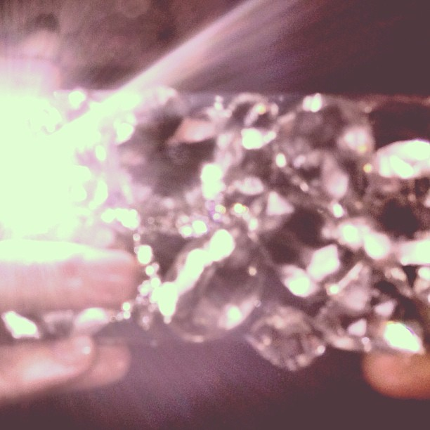 This thing is heavy. #diamonds #gasoline