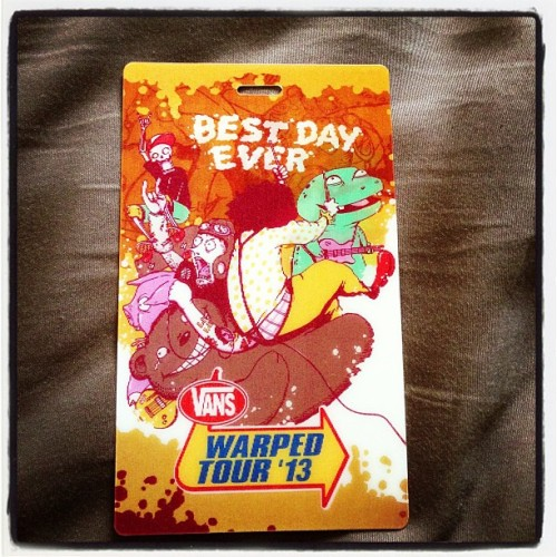 Vans Warped Tour 2013!!! Get Ready Here I Come!!! #Vanswarpedtour #Roundtwo #Warper