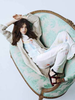 "stormtrooperfashion:  Stacy Martin in ""Von Trier's Muse"" by Rasmus Skousen for Cover, May 2013"