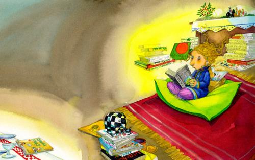 Me aislo del mundo con la lectura para conectar con otros mundos (ilustración de Maria Espluga Solé)