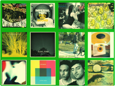 "SURFACE NOISE'z ""TOP 12 (LPs) of 2012!"" IMPERIAL TEEN - ""FEEL THE SOUND"" DINOSAUR JR. - ""I BET ON SKY"" VINNY EDITA - ""SILENT HOMES"" NADA SURF - ""THE STARS ARE INDIFFERENT TO ASTRONOMY"" HUGE PUPILS - ""KINGS OF LEONIA"" THE SPICY DRACULAS - ""CAPITAL INTENSITY"" HALEY BOWERY & THE MANIMALS - ""BORN STRANGE"" 5. TANLINES - ""MIXED EMOTIONS"" 4. OLLIE BYRD - ""NEW ROUTINES"" 3. GUIDED BY VOICES - ""LET'S GO EAT THE FACTORY"" 2. OPPOSSOM - ""ELECTRIC HAWAII"" 1. VERLAINES - ""UNTIMELY MEDITATIONS"" DO YOURSELVES A FAVOR AND CHECK ALL OF THESE OUT, IF YOU HAVENT ALREADY. WWW.BANDCAMP.COM"