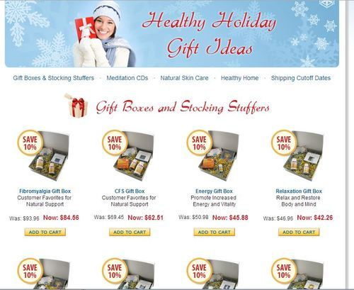 Give the gift of health. It's priceless and shows you care. I adore Pro-Health products because I always know I'm getting a quality supplement geared especially for me as an ME/CFS patient. Check it out when you get a chance:  ProHealth.com Holiday Gift Ideas