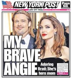 New York Post front page for Wednesday, May 15