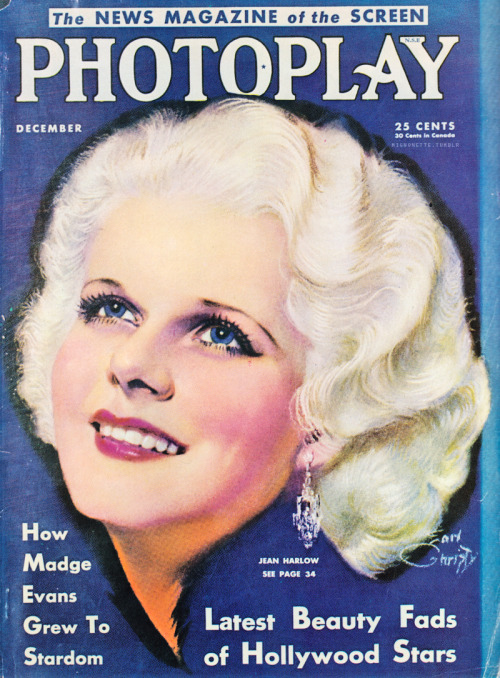 mignonette:  Photoplay cover,  December 1931.
