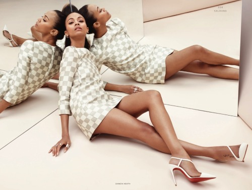 Zoe Saldana in Louis Vuitton, Spring 2013 photographed by Damon Heath for Instyle UK, June 2013