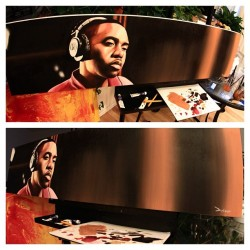 Nas piece done. #nas #painting #oilpainting #wip #workinprogress #instadope #hiphop #art #artwork
