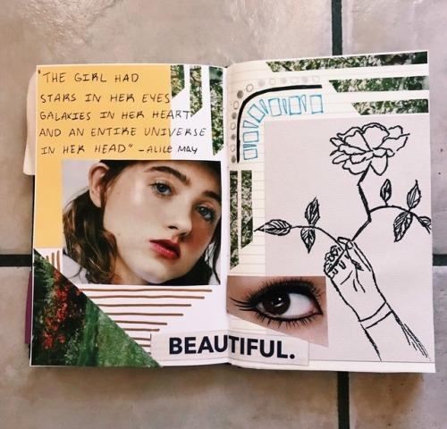 journaling art journaling natalia dyer stranger things art journal thejournalclub boringangel peachisty florels wreckedteens myposts myjournal