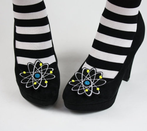 (via Geek Atom Shoe Clips Boron Atom by JanineBasil on Etsy)