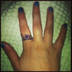 The beautiful ring @kelseyisdope made me! It's my favorite & it fits PERFECT!☺💜👯 #Love