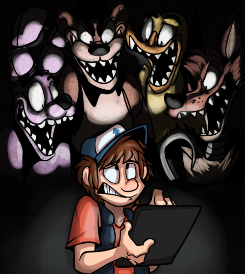 fatalsyndrome:  Five Nights at Gravity Falls! A birthday gift for my best friend / bro.
