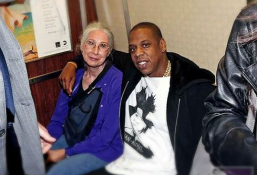 Remember when Jay-Z rode the subway to his show in Brooklyn? Here he is with Ellen Grossman, who is an artist in her own right.