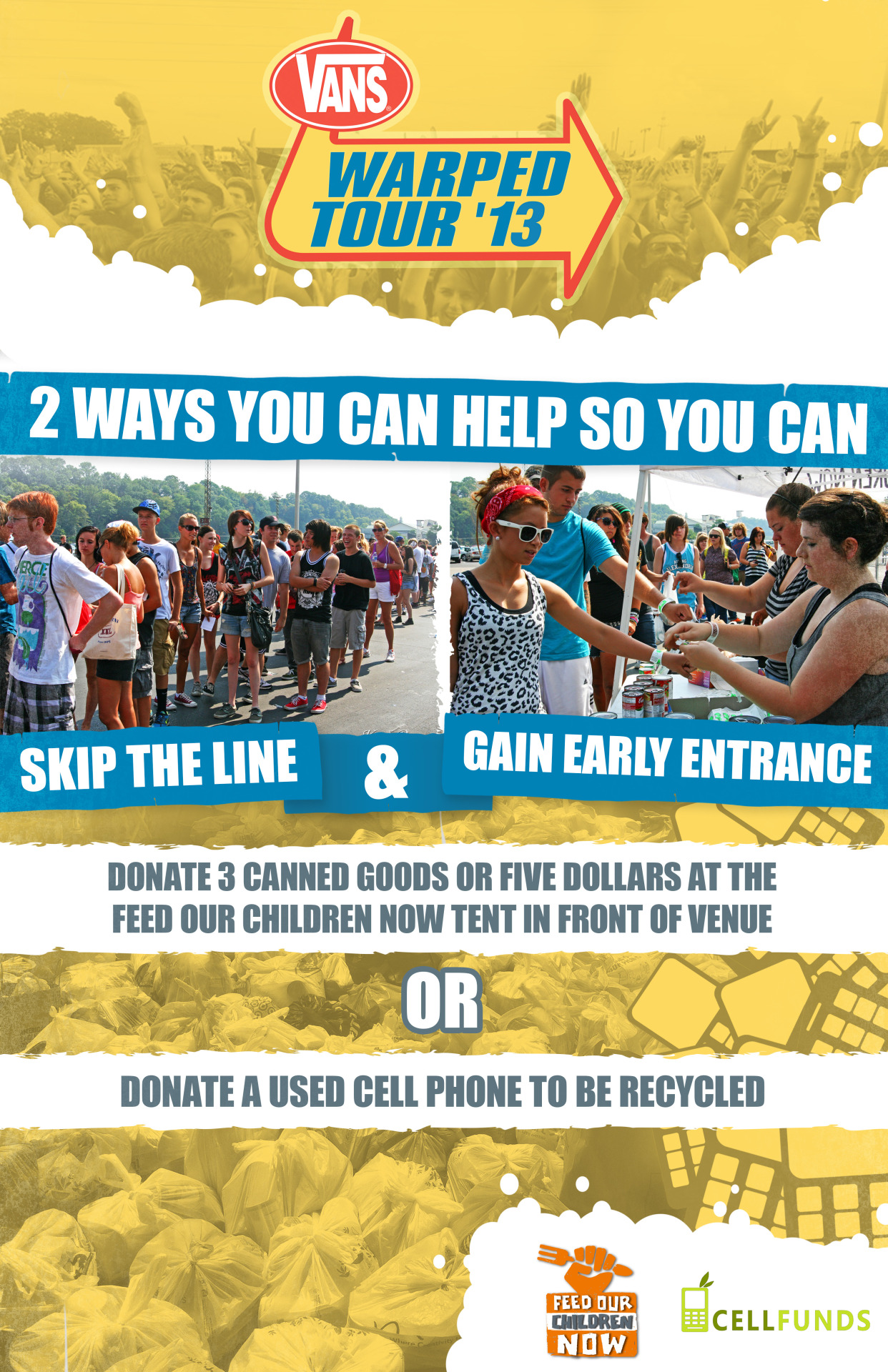feedourchildrennow:  officialwarped:  2 ways you can help AND jump the line this summer on Warped!   REBLOG!