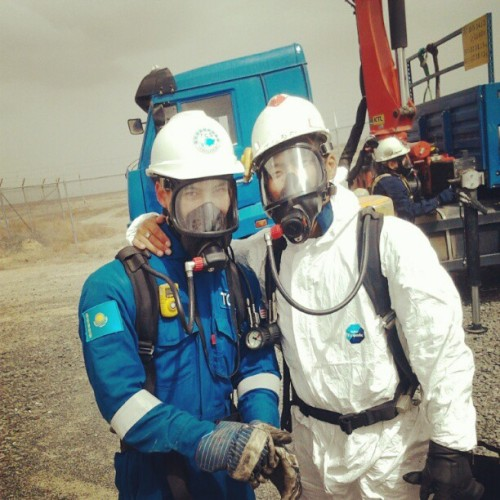 H2S! #work #oilfield (в Tengiz Oilfield)