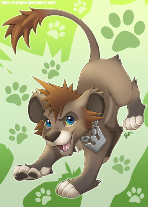 oops-afurryblog:  Kingdom Hearts Lion! Artist here