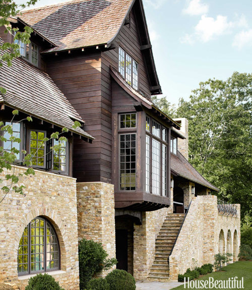 North Carolina mountain home by Ruard Veltman Architecture. House Beautiful.