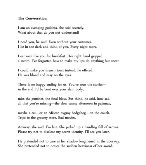 The Conversation by Jeannine Hall Gailey  Hey, April is National Poetry Month!