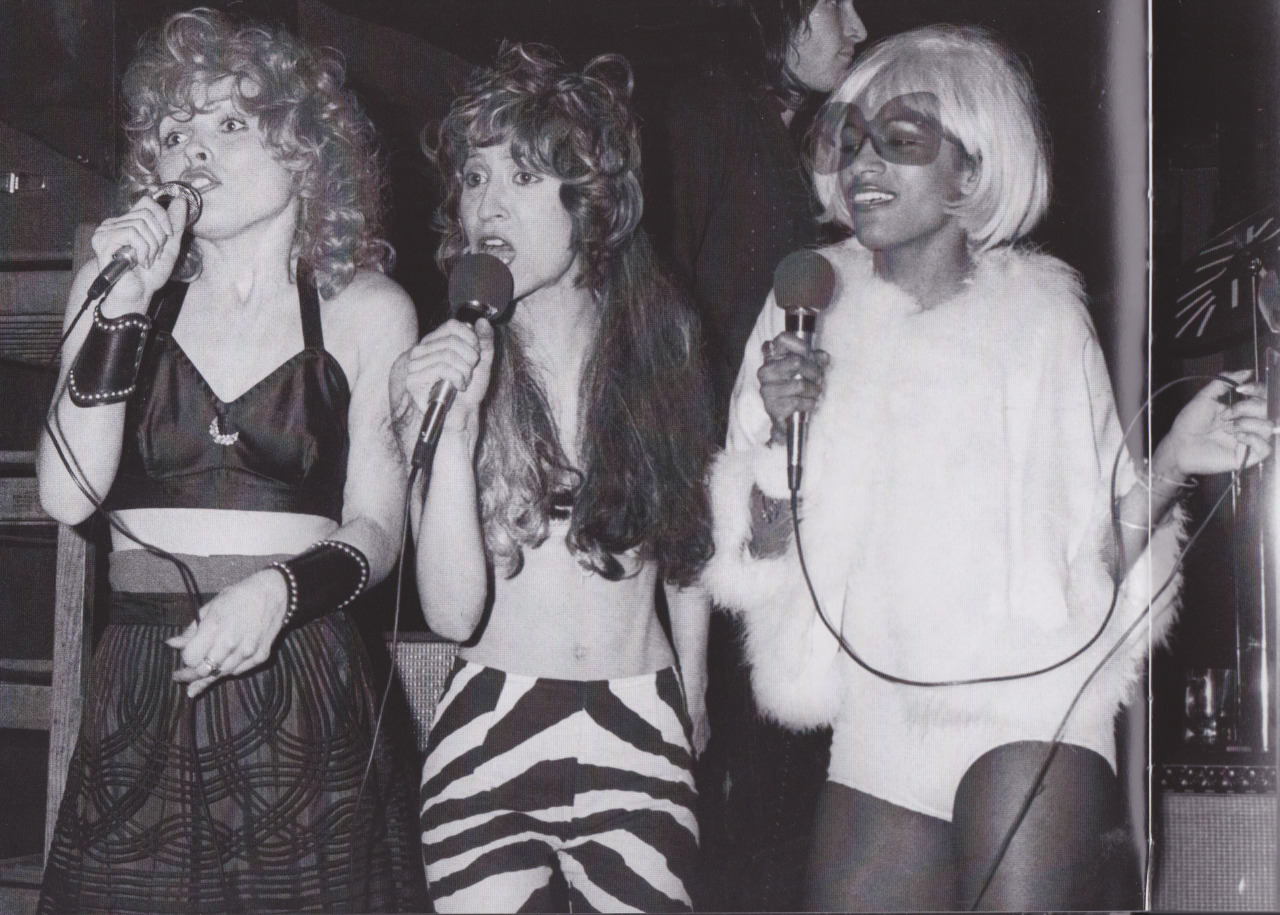 One time for my gorgeous mother on stage at #CBGB as part of The Stilettos (w/ Debbie Harry) Circa 1973. They were one of the first bands to play the iconic venue, even The Ramones opened for them! @cbgbandomfug