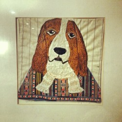 Fabric picture of our beloved pooch #dogs #art #craft #home #art #creative #pooch #love