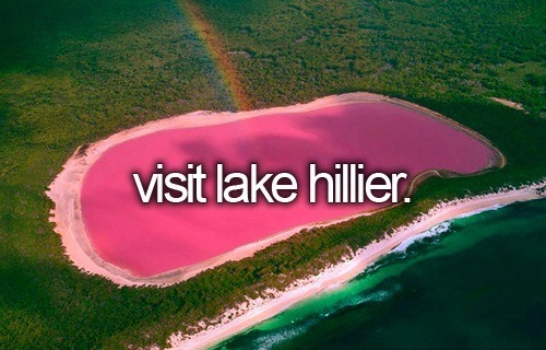 Bucket List!:> Lake Hilier at Western Australlia :)