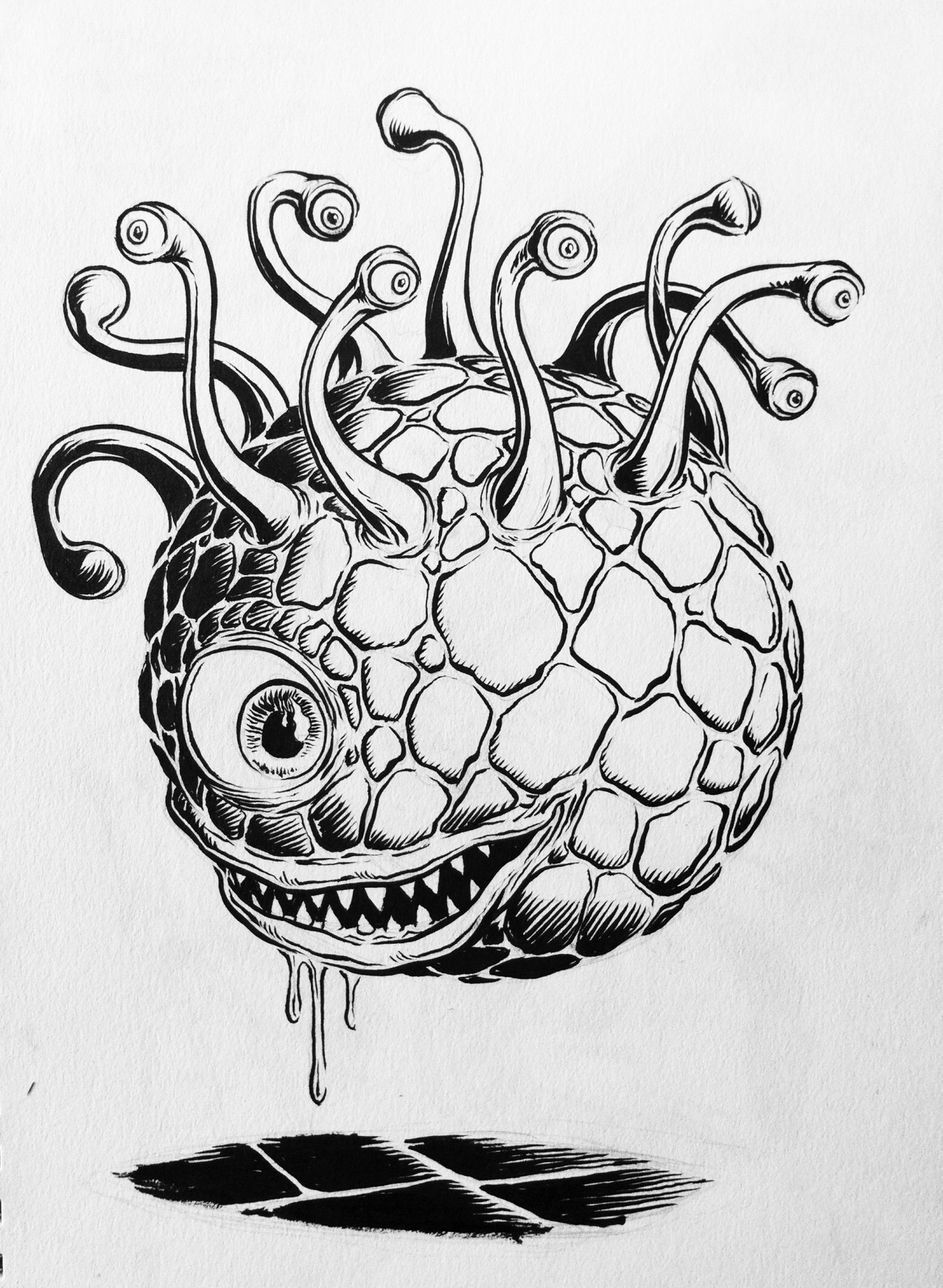 Sketch for sale - Beholder! Click here to purchase.