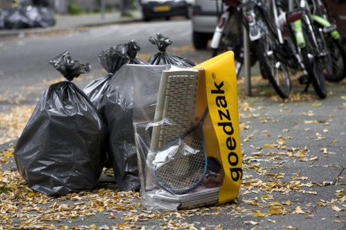 """The Goedzak is a special garbage bag for items that are still usable."" Love this.  via Pop Up City"