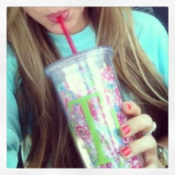 Lilly, monograms, and iced coffee. The three best friends that anyone could have.