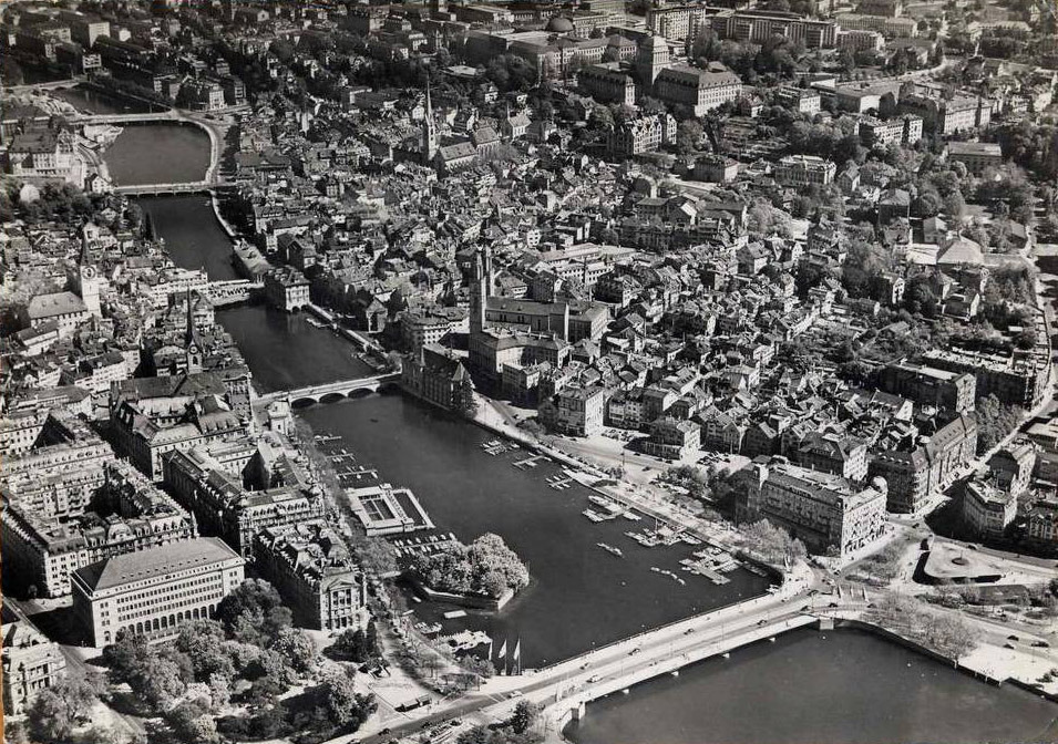 Aerial view of Zürich