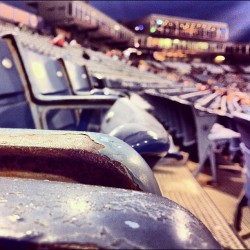 #chilly night for a #sounds #game. #empty #old #rusty #bleachers #baseball #nashville #nashvillegram #fun #blankets #rain #weekend #tennessee #minorleague (at Herschel Greer Stadium)