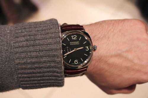The 42mm Panerai Radiomir PAM 337. Check out the full hands-on report today on HODINKEE.