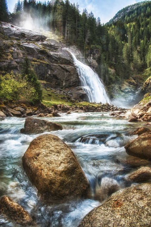 allthingseurope:  The Krimml Waterfalls, Austria (by alpenbild.de)  Wish to go here.