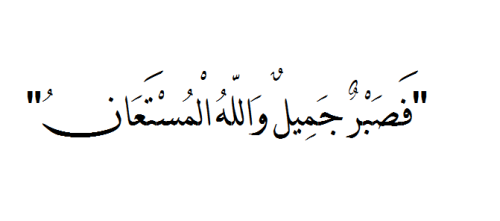 "bintmaahir:  ""…so patience is most fitting. And Allah is the One sought for help…""  Soorat Yoosuf: Aayah 18"