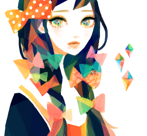 tofuvi:  midterms are draining my energy;; fooling around with colors in this doodle, I guess// officially declared my bio-engineering major woo! p.s. thank you guys for the concern; I'm okay!
