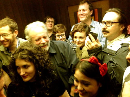 We all risked death last night cramming into an elevator to go to an after-party we only assumed was happening. This is just half of the people.