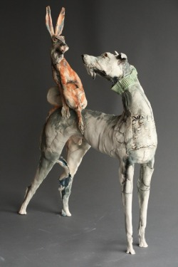 mclewt:  Hare of the Dog, Ceramic 12 by Gaynor Ostinelli