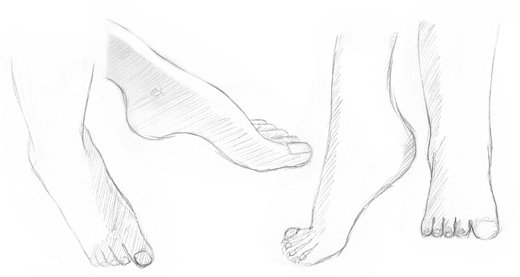 alexiel2001:  April Drawing Challenge Day 14 : Feet