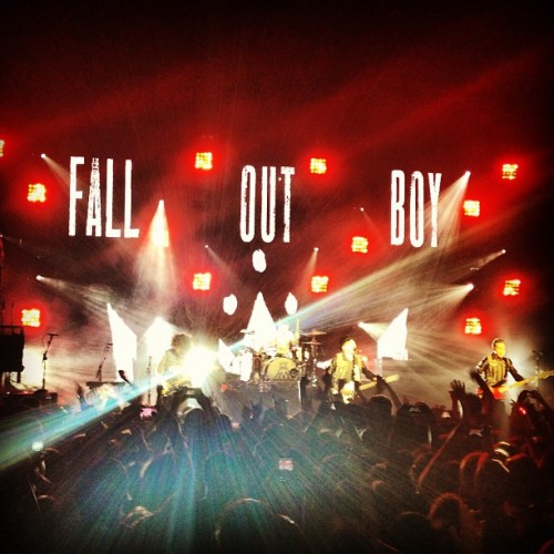 Best concert in a very, very long time. So glad they are back. #falloutboy #chicago