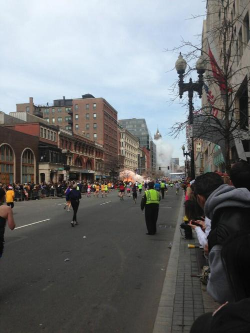 meltedcrayonart:  usualchatter:  There's been an explosion at the finish line of the Boston Marathon. Seems pretty serious.  Here's a source (Warning: Bloody).   jfc  Fuuuuuuuuuuuuuuuuuuuucks sake.