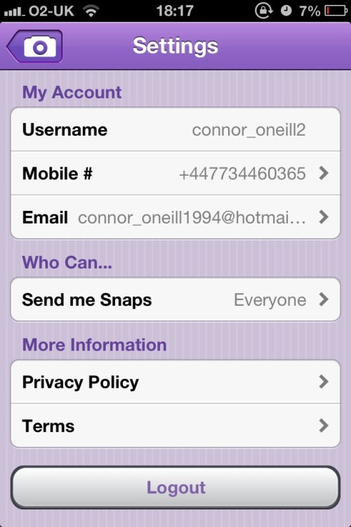 People snapchat me if you wish!