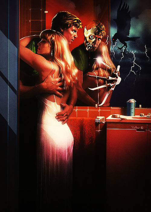 madam-shogun-assassin:  love these 80's posters!!!  Nightmare on Elm Street 2-the gayest horror film of all time. Not that thats a bad thing.