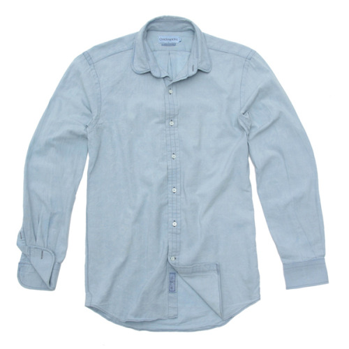 Ovadia & Sons Club Collar Antique Wash Chambray
