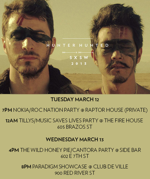 hunterhuntedmusic:  SXSW Schedule announced! Seeya in Austin!
