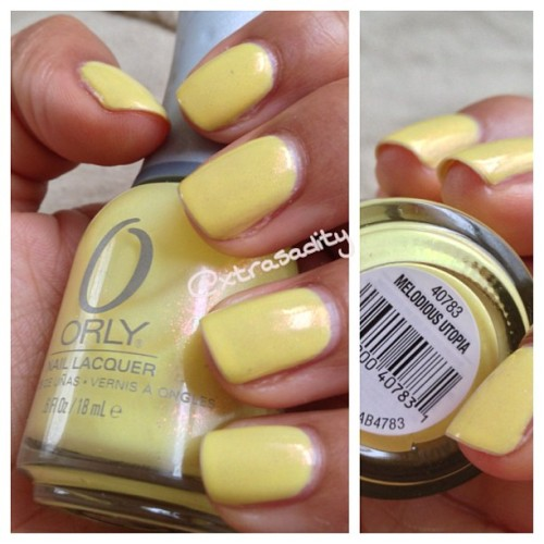 #notd @orlynails in melodious utopia #pastel #yellow with pink shimmer??? Yessss I'm in love! 💛💖💛 #nails#nailpolish#orly#polish#instanail#spring#springnails#yellownails#beauty#nailporn#nailgasm#nailswatch#swatch#cute