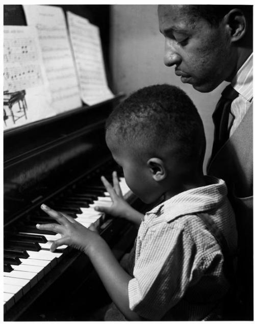 talented10th:  Chicago. 1948. This boys father, Eldzier Corter, traded his paintings for piano lessons.