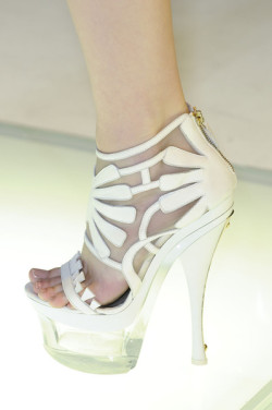 floraspice:  shoes at Versace Spring/Summer 2012 | Milan Fashion Week
