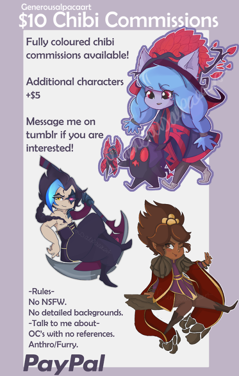 updated commissions chibi commissions league of legends chibi generousalpacaart reblogs appreciated! Different payment options can be discussed