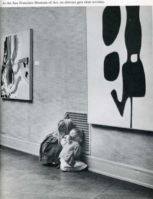 At The San Francisco Museum Of Modern Art, an abstract gets close scrutiny.