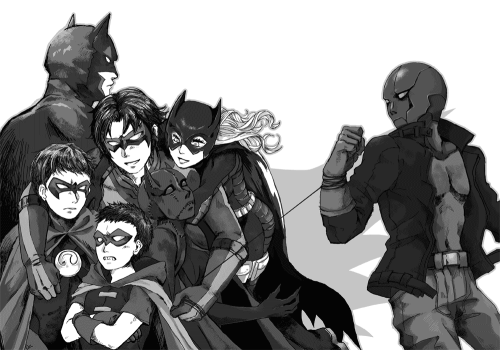 birdstump:  Batfam, by いとへん