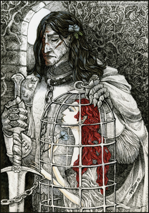 such-a-dearie:  Sir Sandor Clegane and Bird. with Color by ~Dead-Wizard