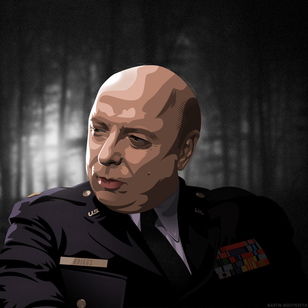 Twin peaks illustrated - Major Briggs by Martin Woutisseth